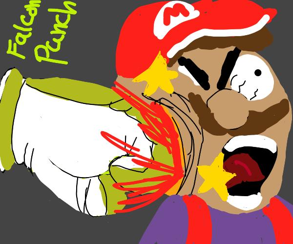 Mario vs falcon punch