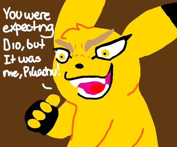 It wasn't me, it was clearly... Pikachu!