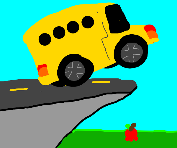 Bus Driver jumping over an Apple