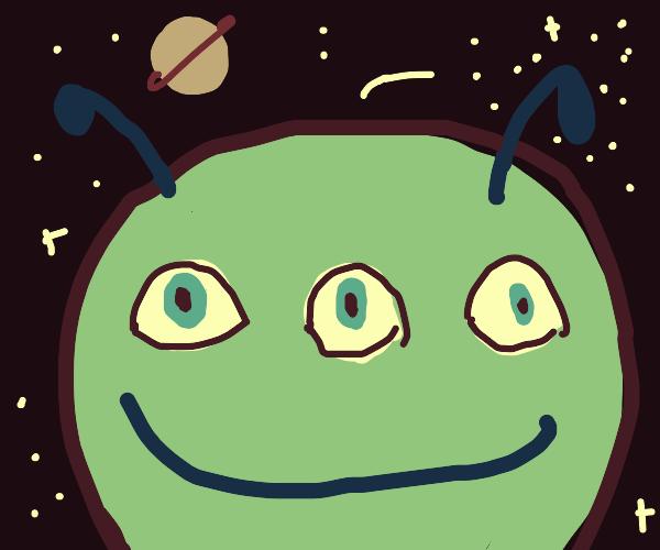 Fat Alien w/ Three Eyes