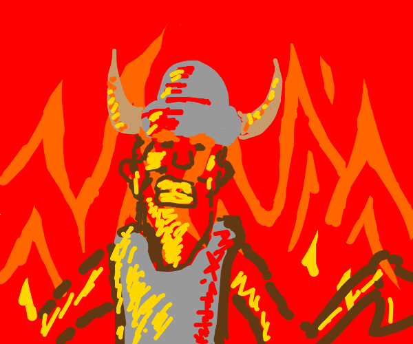 Viking in one of the circles of hell