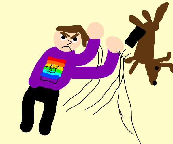 Gay flipping dog fuccer
