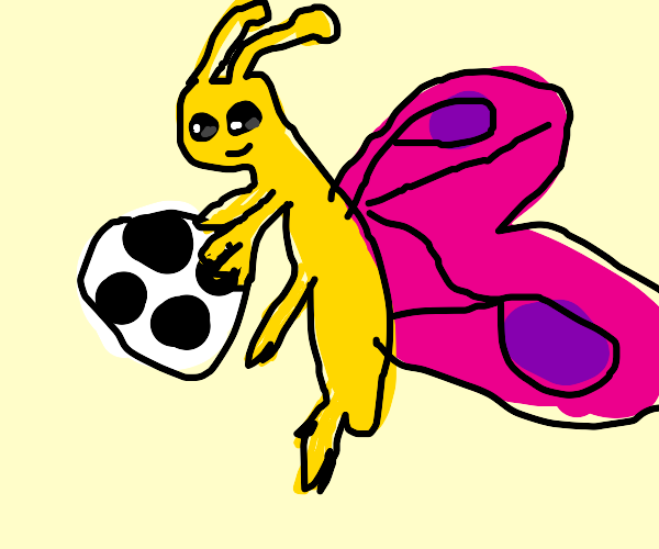 butterfly throws football