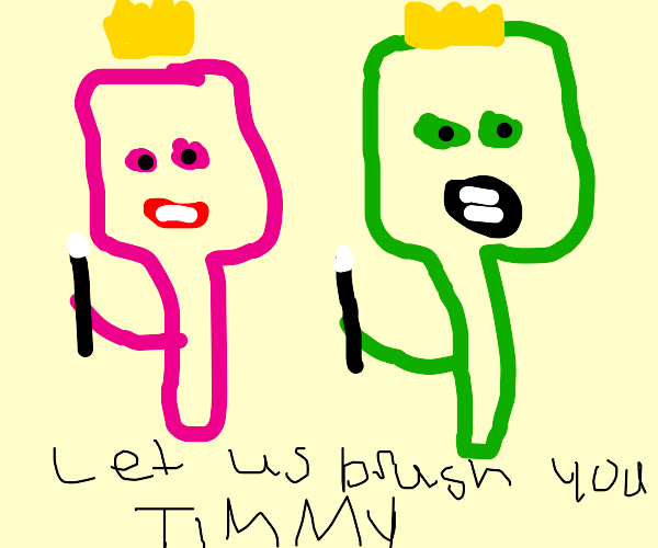 Cosmo and Wanda as brushes