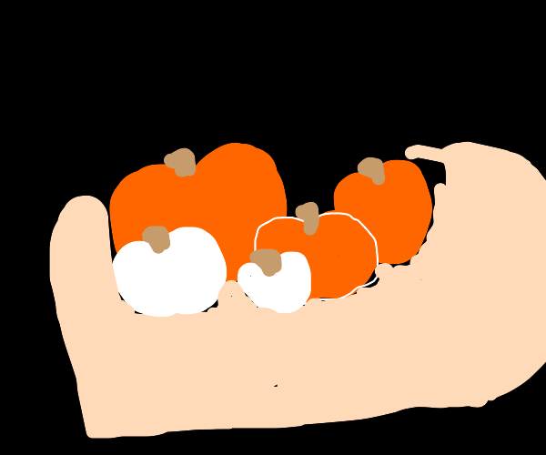 Pumpkin egg basket