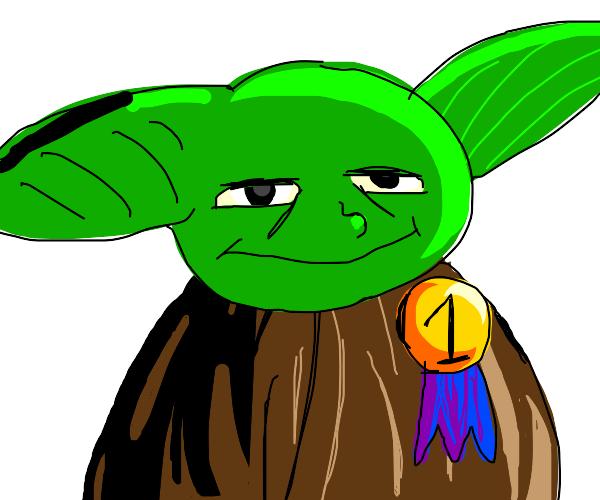 Yoda won first!