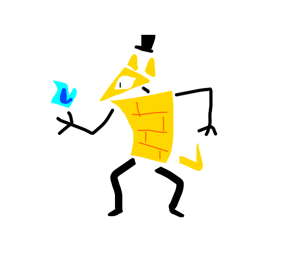bill cipher becomes a skinny gremlin