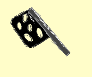 black cleaver with holes