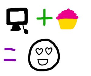 computer+cupcake=love
