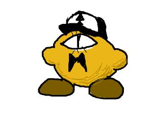 Kirby eats Bill Cipher, & Dipper's cap