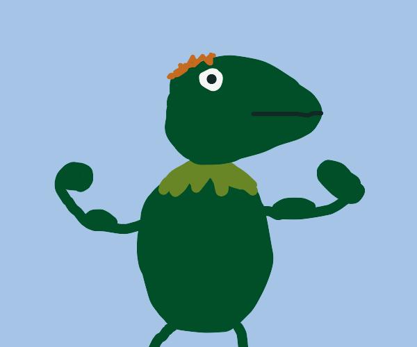 Kermit expecting a boy