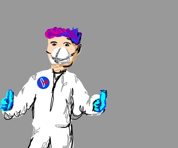 NASA scientist with purple hair