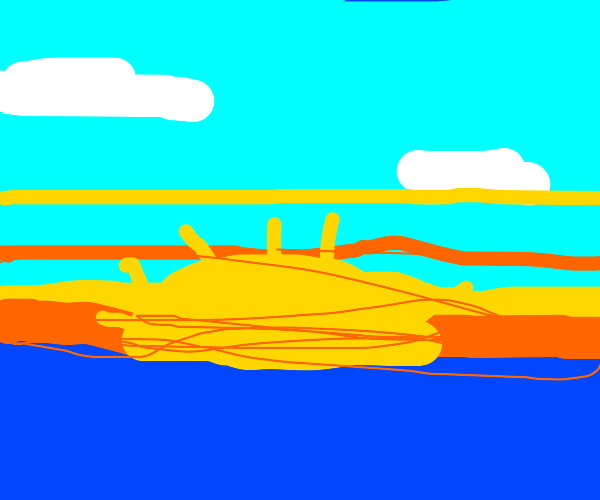 The sun rises above an ocean