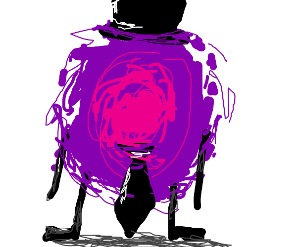 anthropomorphic portal wearing tie and hat