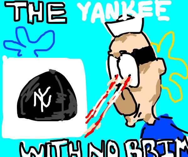 Yankees cap no brim