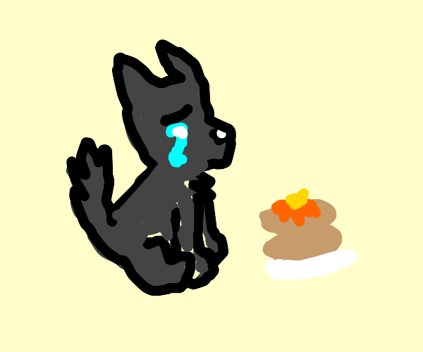 wolf crying from pancakes