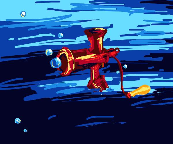 meat grinder underwater