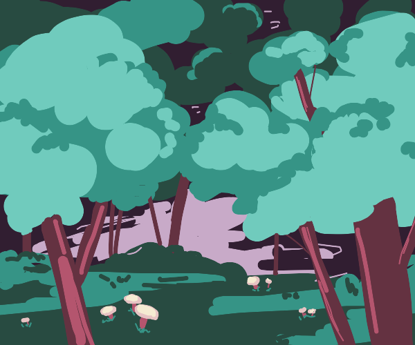 Mushrooms and a Forest