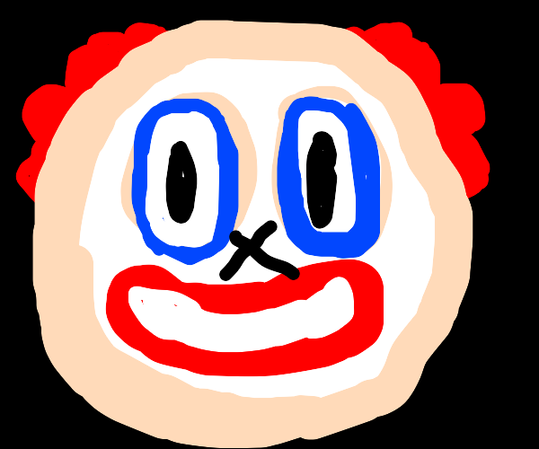 a clown face but without a nose