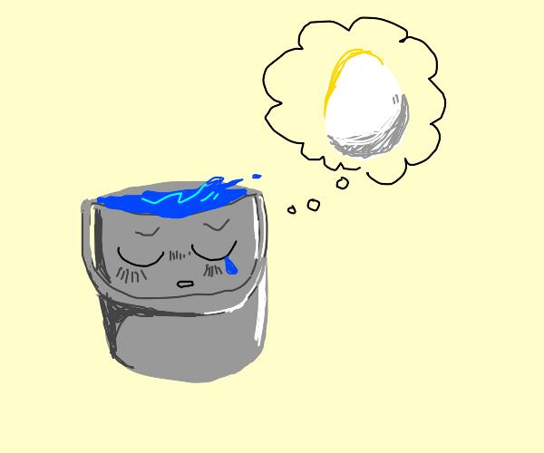 waterpail misses his friend egg