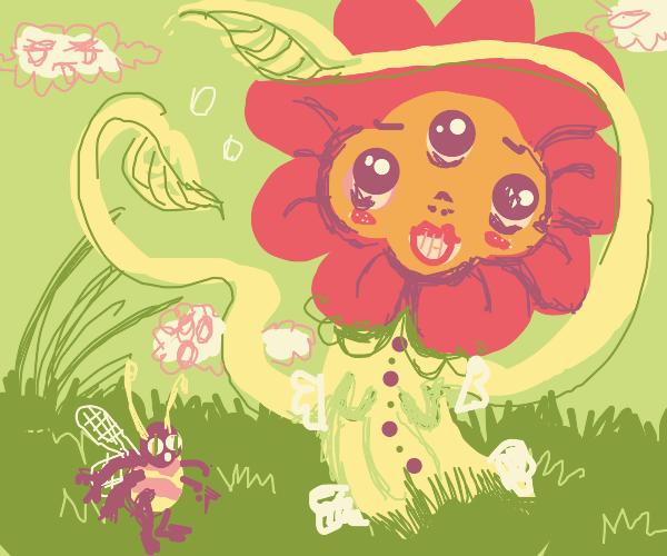 Flower with three eyes