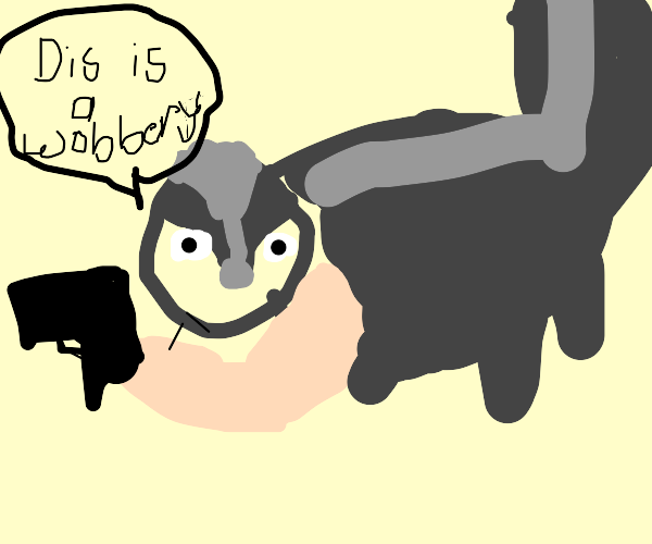 Raccoon says dis is a wobbery