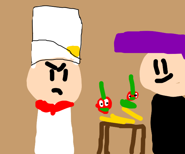 chef's latest creation is ruined
