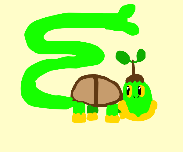 Turtwig with a tail 150 times its bodylength