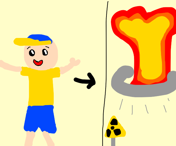 caillou dies in nuclear explosion