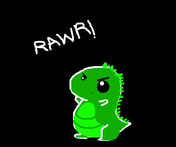 A Lizard that says rawr