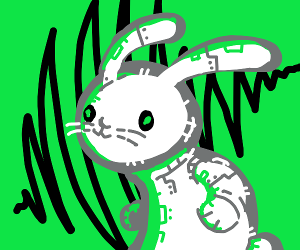 Robotic Bunny with green space