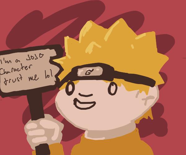 Naruto thinks he's a JoJo character