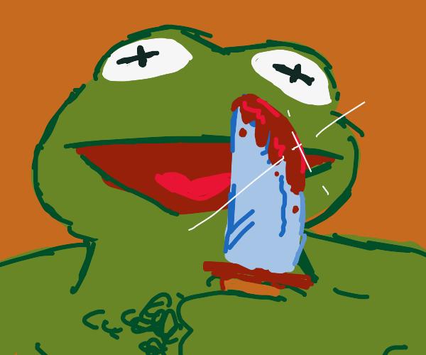Buff Kermit commits murder