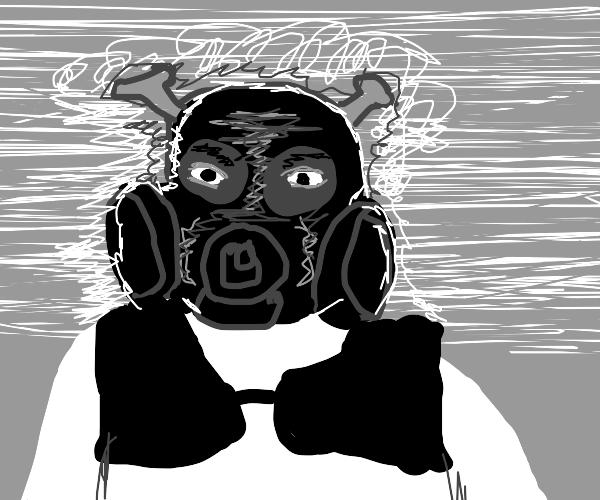 shrek in a gas mask, WWII