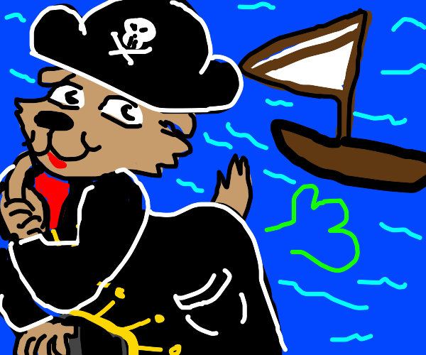 Furry pirate farts on a boat
