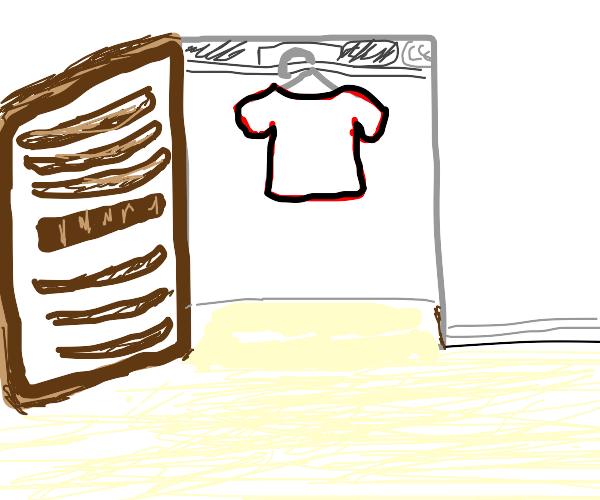 shirt in a closet