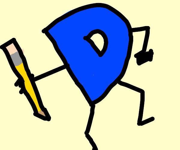 A Bid blue drawception logo