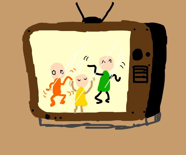 people dancing on tv