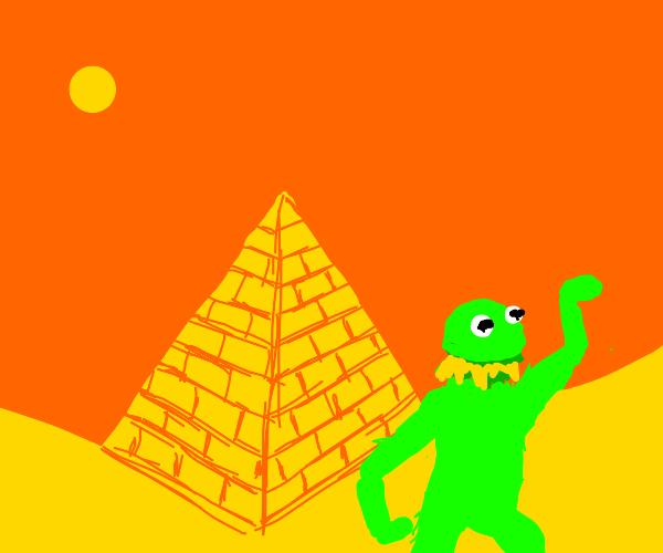Kermit In Egypt