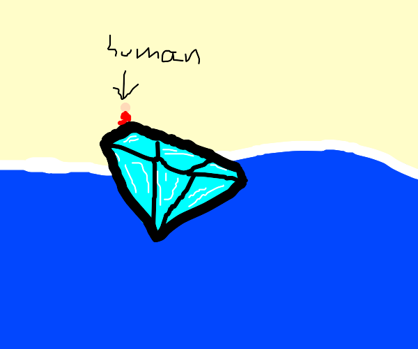 Giant floating diamond