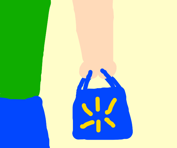 Walmart check-out grocery bag