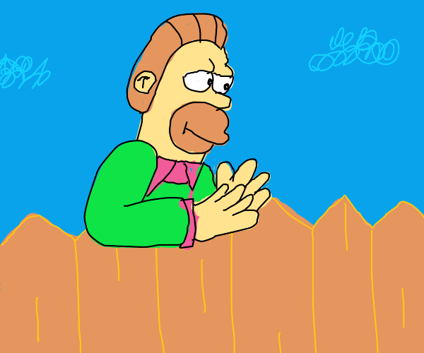 ned flanders and homer simpson merged