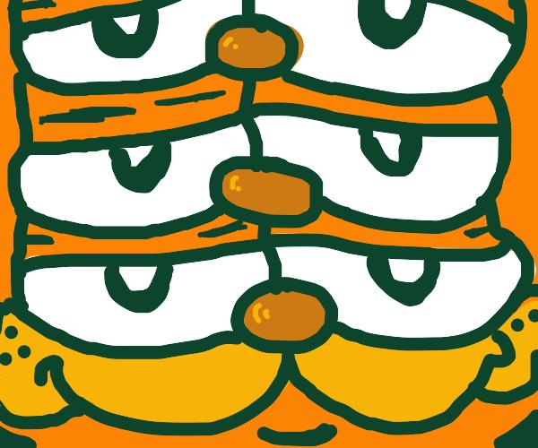 Compressed Garfield Totem Pole
