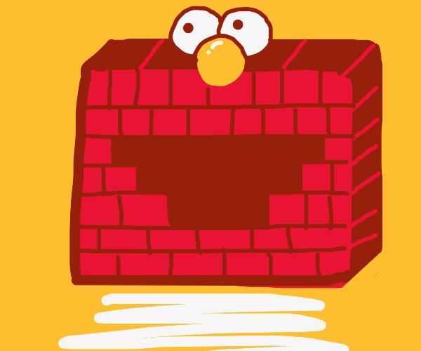 Elmo is made of bricks now!