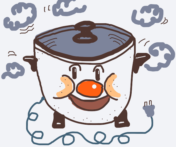 the cutest rice cooking pot