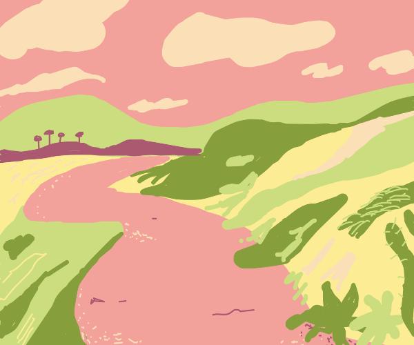 A peaceful hillside