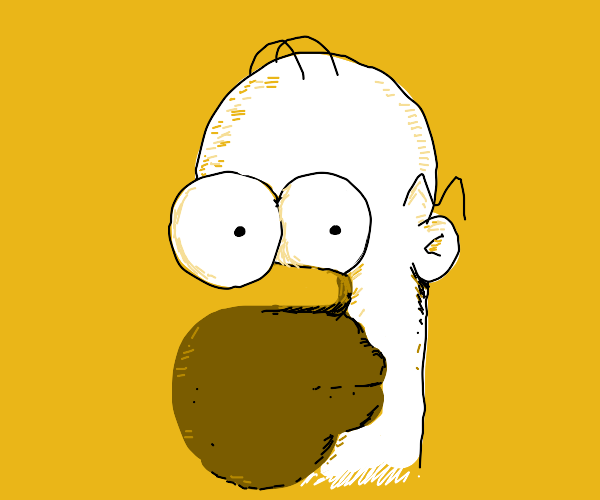 abstract homer simpson
