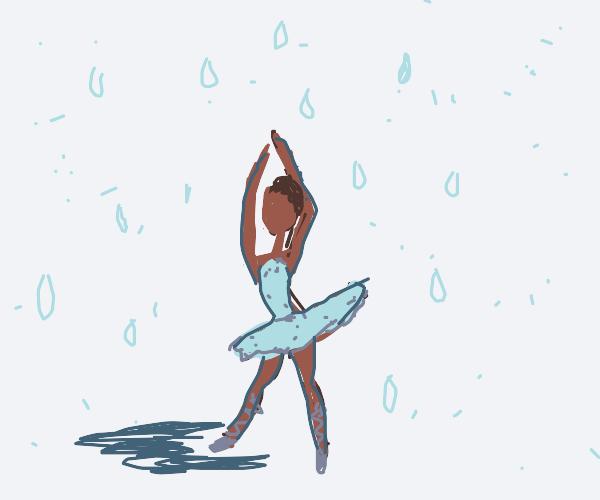 Small Ballerina dancing in the sink