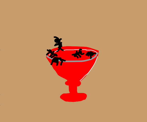 Bugs in a cocktail