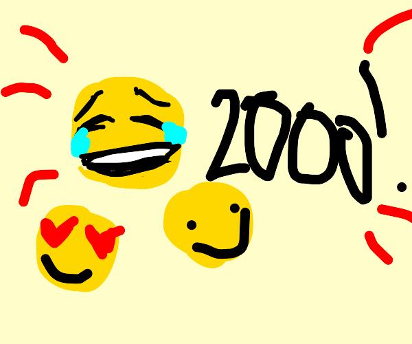 Someone reached 2,000 emotes! Good job!